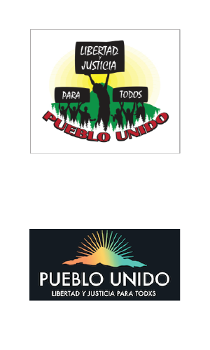Pueblo Unido original and new logos